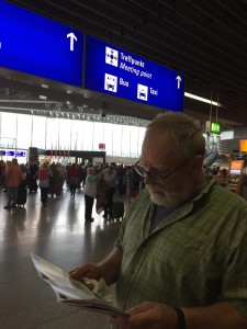 Ken in Frankfurt Airport.