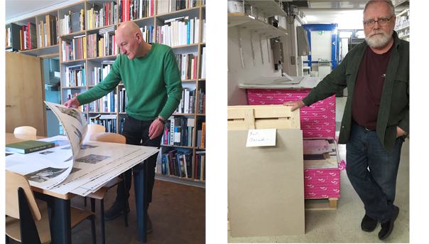 Rudi in the Library. Ken in the Print Shop.