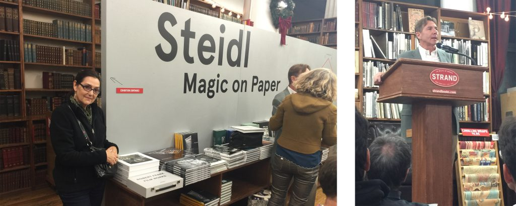 """Victoria with """"The Golden Decade"""" on display with the other new books from Steidl."""