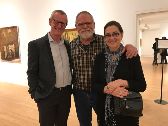 Malcolm Warner, Director of the Laguna Art Museum, Ken Ball, Victoria Whyte Ball