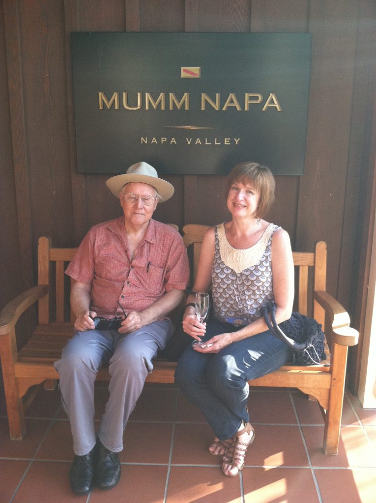 Stan Zrnich with Lynn Meinhardt who curated the Mumm Napa Exhibit with Stefan Kirkeby.
