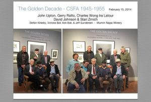 Mumm Napa Winery, Golden Decade Exhibit, 2/14/2015