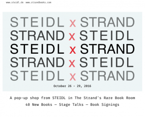 Steidl at The Strand Book signing!